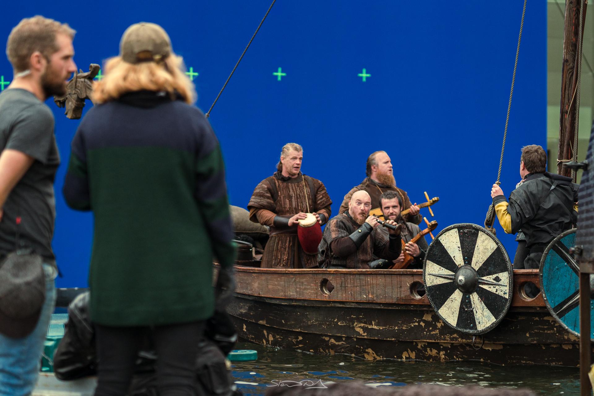 Viking ship in water tank